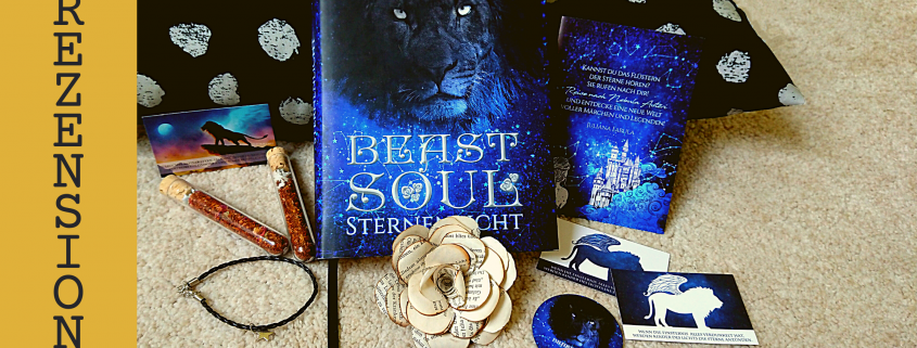 "Titelbild Rezension Buch ""Beastsoul"" mit Goodies"