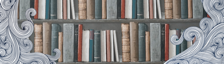 Titelbild Lektorin mit Bücherregal